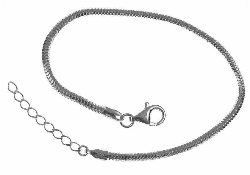 Srebrna bransoleta a''la pandor gruba żmijka snake regulowana srebro 925 B262R