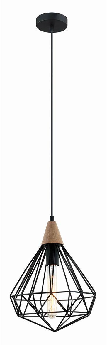 Lampa wisząca druciana industrialna Maelle MDM2591/1S BK Italux