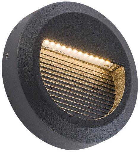 Lampa ścienna SIDEWALK ROUND LED IP54 czarny