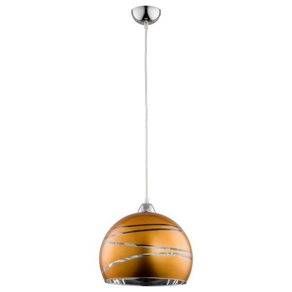 Lampa wisząca zwis NARVI pomarańczowo-złota śr. 30cm