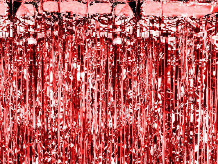 Kurtyna Party czerwona 90 x 250 cm 1szt. CRT-007