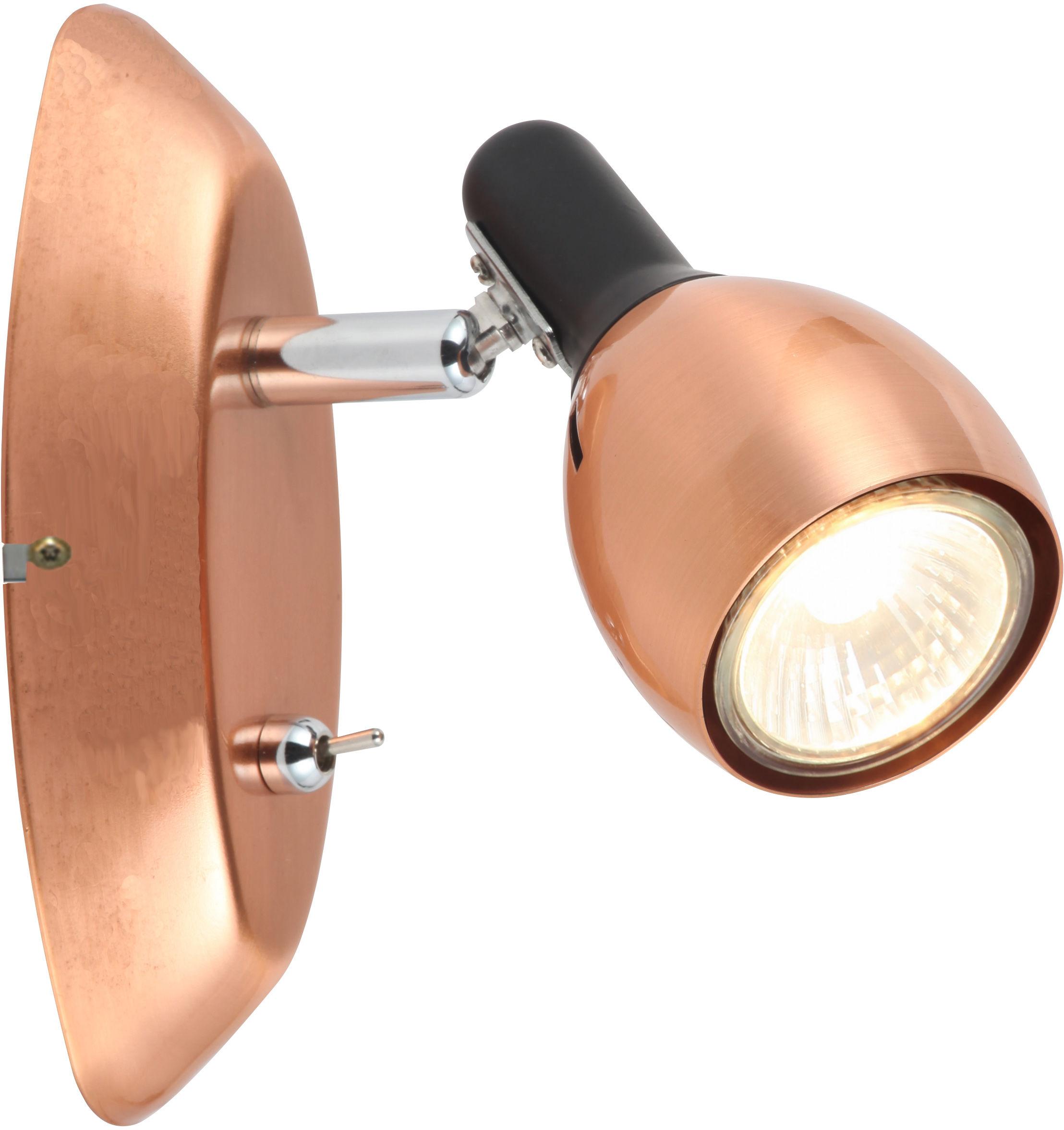 Candellux CROSS 91-32768 kinkiet lampa ścienna miedziany regulacja klosza 1X50W GU10 6,3cm