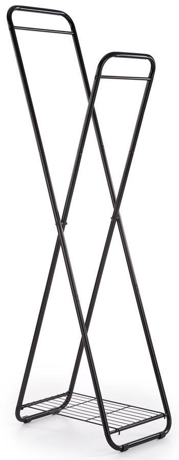 Czarny składany wieszak stojący - Fenix