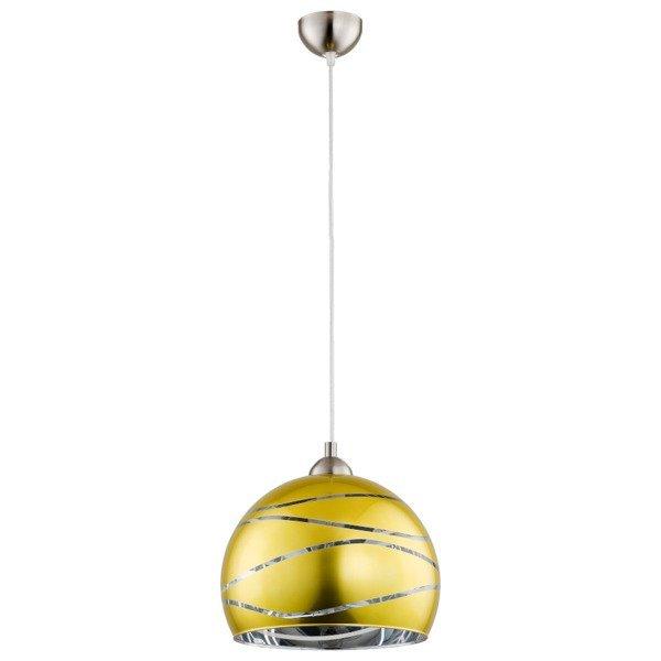 Lampa wisząca zwis NARVI żółto-złota śr. 30cm