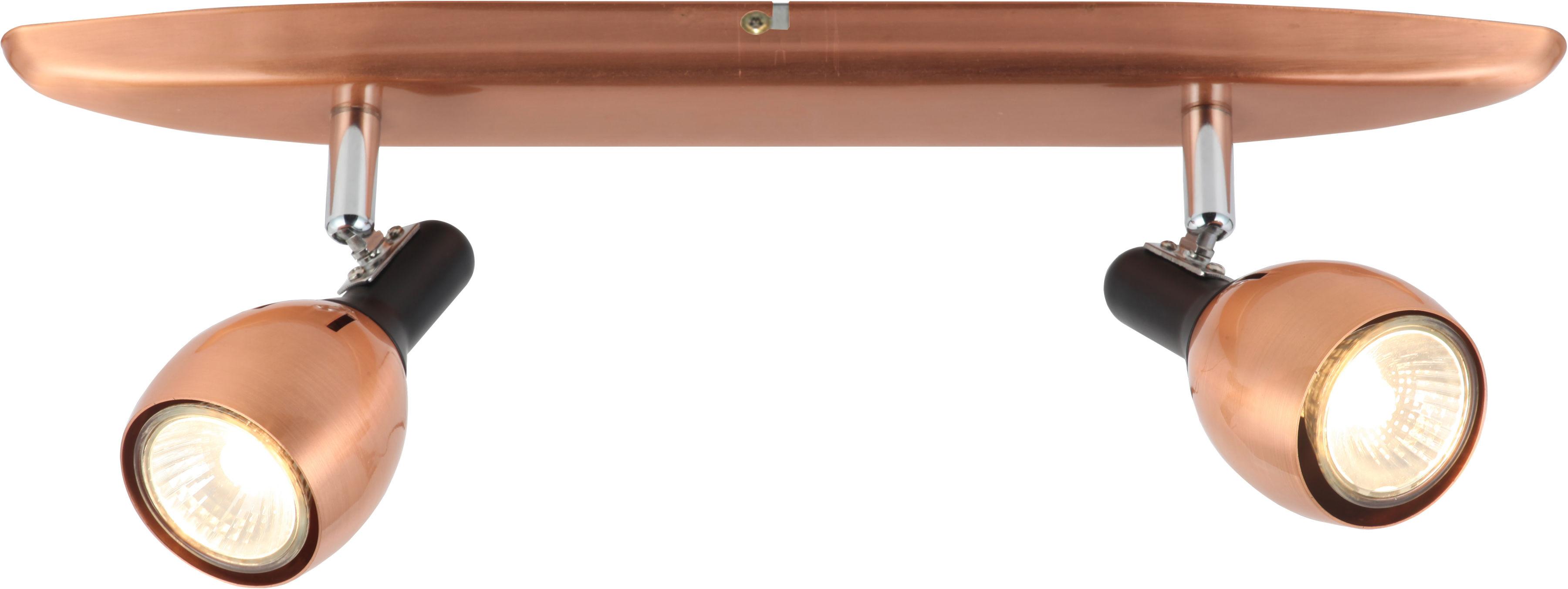Candellux CROSS 92-32775 oprawa oświetleniowa spot miedziany regulacja klosza 2X50W GU10 40cm