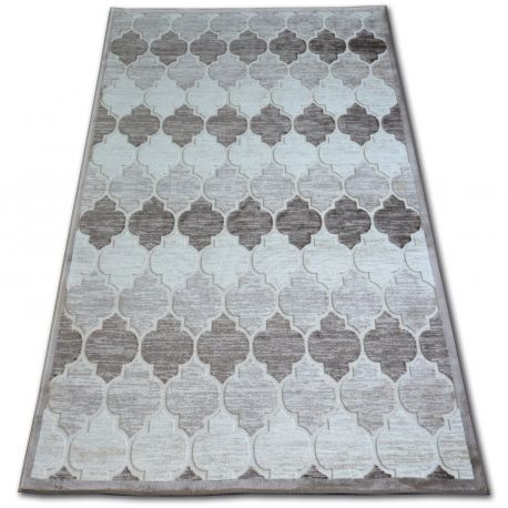 Dywan AKRYL YAZZ 3766 D.Beige/Brown Koniczyna Marokańska Trellis 80x150 cm
