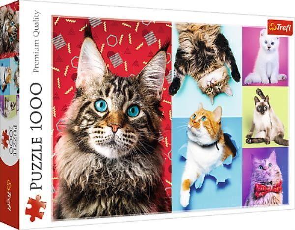 Puzzle TREFL 1000 - Wesołe koty, Happy cats