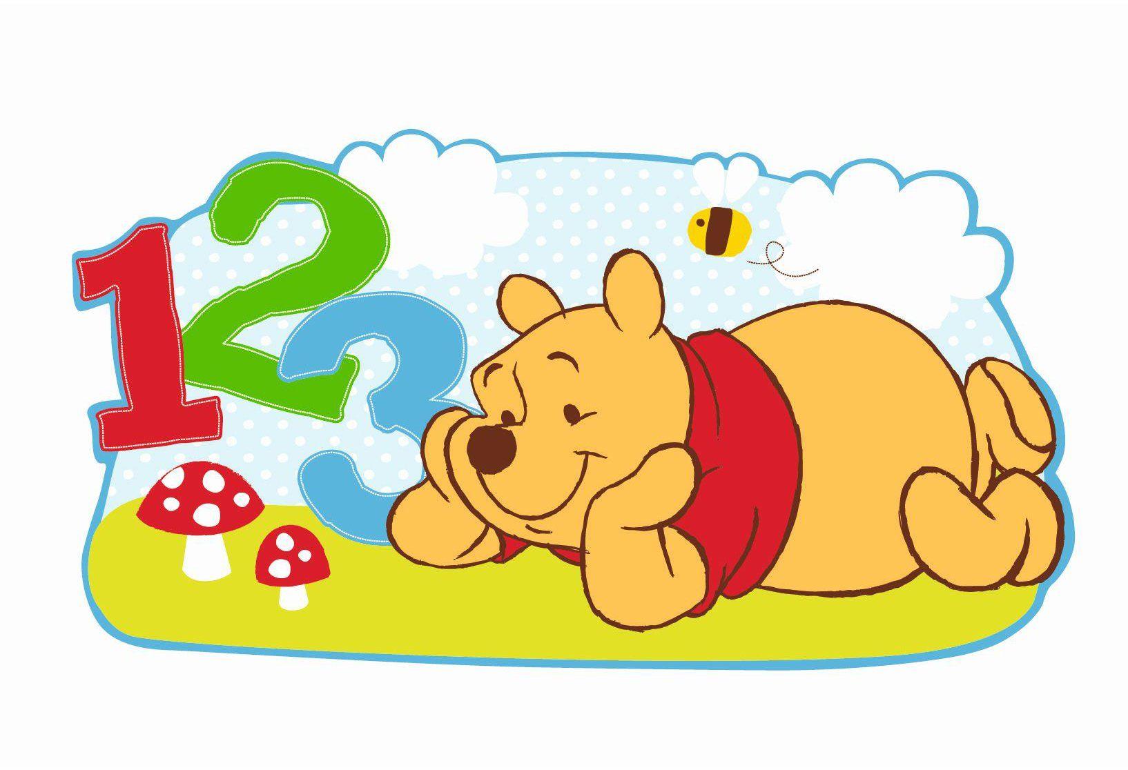 DECOFUN 35352365 - Kubuś Puchatek figurka ścienna Pooh & Freunde