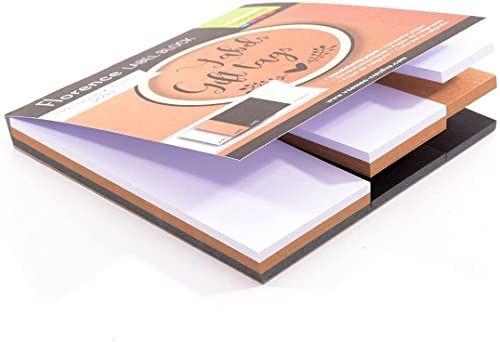 Vaessen Creative Florencja blok etykiet z kartami, 3 rozmiary i 3 kolory, papier do zawieszek prezentowych, scrapbookingu, tworzenia kart i innych rzemiosł papierowych, biały, czarny, brązowy