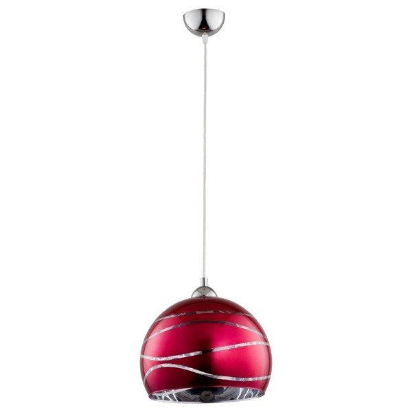 Lampa wisząca zwis NARVI różowa śr. 30cm
