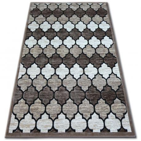 Dywan AKRYL YAZZ 3766 D.Beige/Salmon Koniczyna Marokańska Trellis 80x150 cm