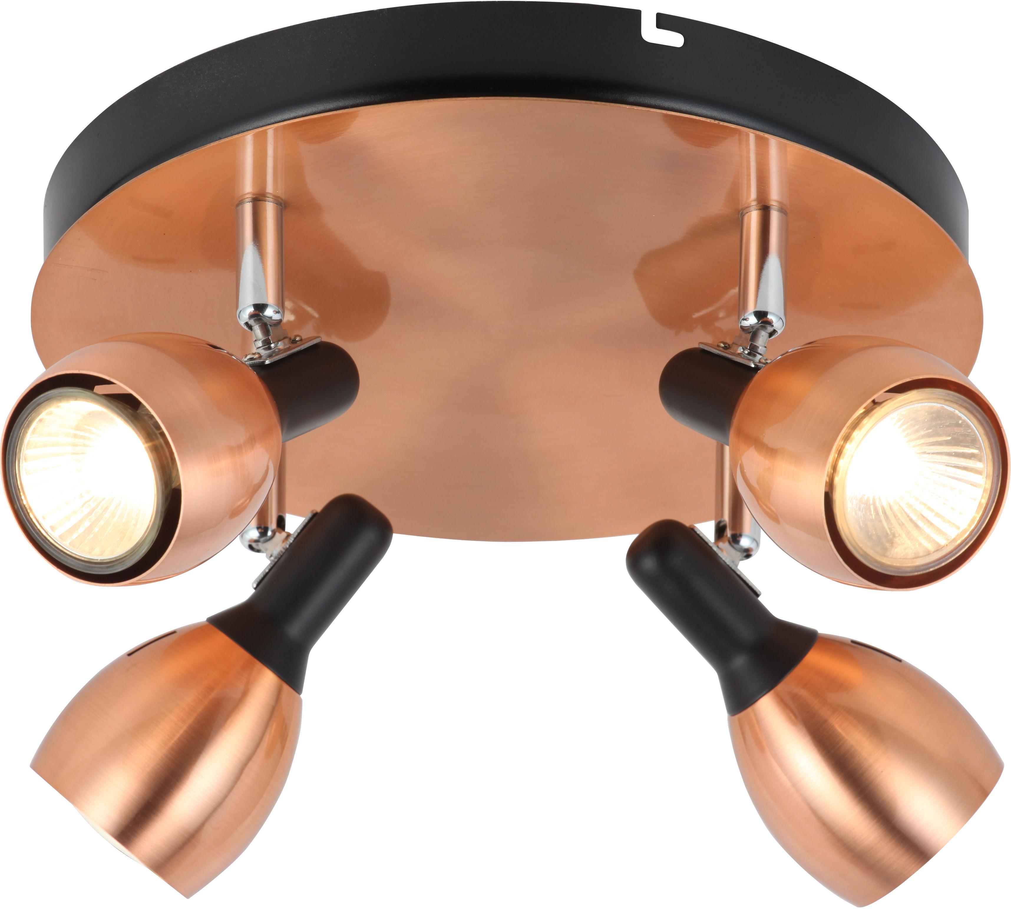 Candellux CROSS 98-34878 plafon lampa sufitowa miedziany metalowy klosz 4X50W GU10 35cm
