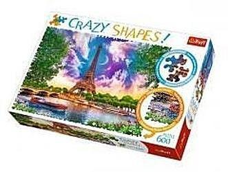Puzzle TREFL 600 - Crazy Shapes - Niebo nad Paryżem, Sky over Paris