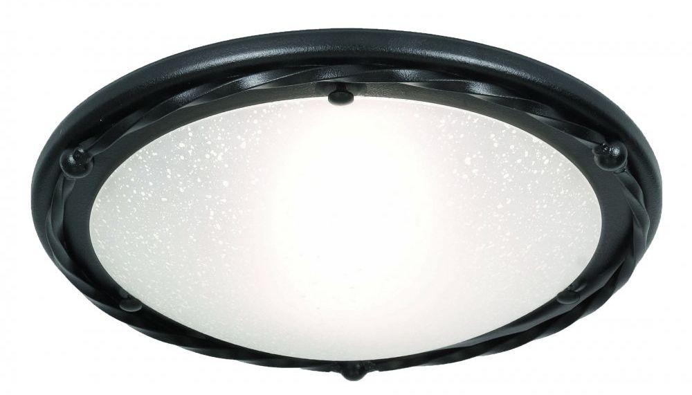 Plafon Pembroke PB/F/B BLK Elstead Lighting czarna oprawa w klasycznym stylu