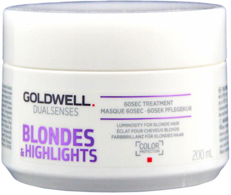 Maska regenerująca, odżywiająca kolor Goldwell Dualsenses Blondes Highlights 60 sekund 200ml