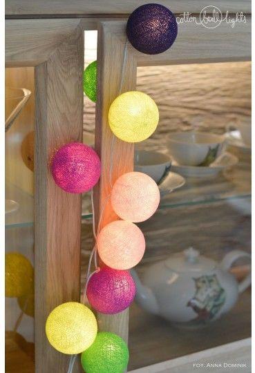 Kolorowe kulki LED kompozycja - Uva