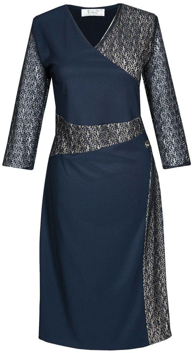 Sukienka FSU471 GRANATOWY
