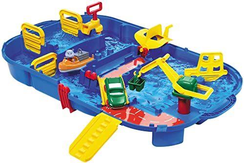 """Aquaplay 8700001516 zestaw toru wodnego """"pudełko z przejażdżami"""", 25-częściowy"""