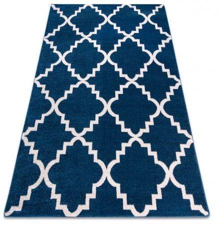 Dywan SKETCH - F343 niebiesko/biała koniczyna marokańska trellis 180x270 cm
