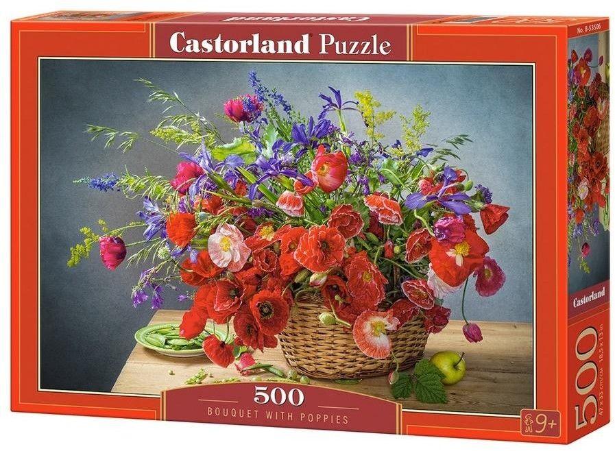 Puzzle Castorland 500 - Bukiet z makami, Bouquet with Poppies