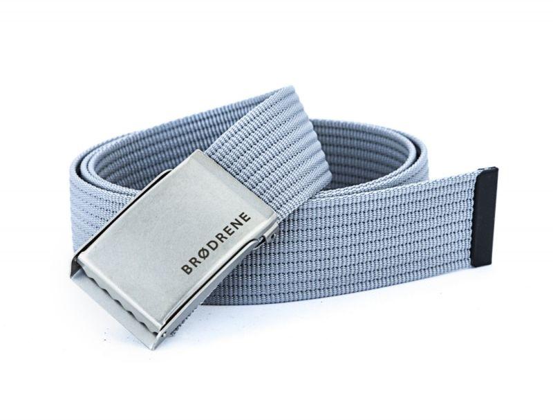 Parciany szary pasek do spodni brodrene p02 silver