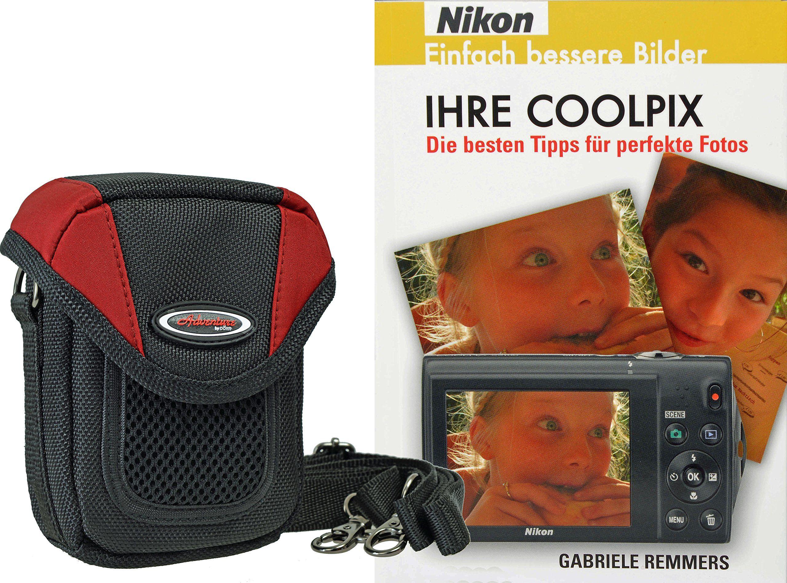 ADVENTURE X-TREME torba na aparat i książeczka fotograficzna ''Ihre Coolpix'' (język niemiecki] do Nikon czarny/czerwony