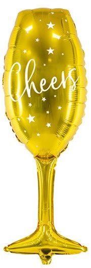Balon foliowy Kieliszek Cheers złoty 80cm FB52M-019