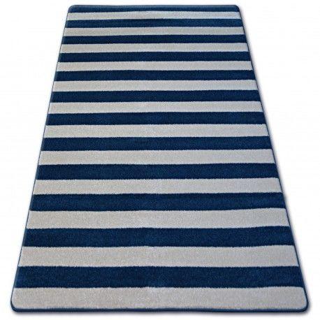 Dywan SKETCH - F758 niebiesko/biały - Pasy 80x150 cm