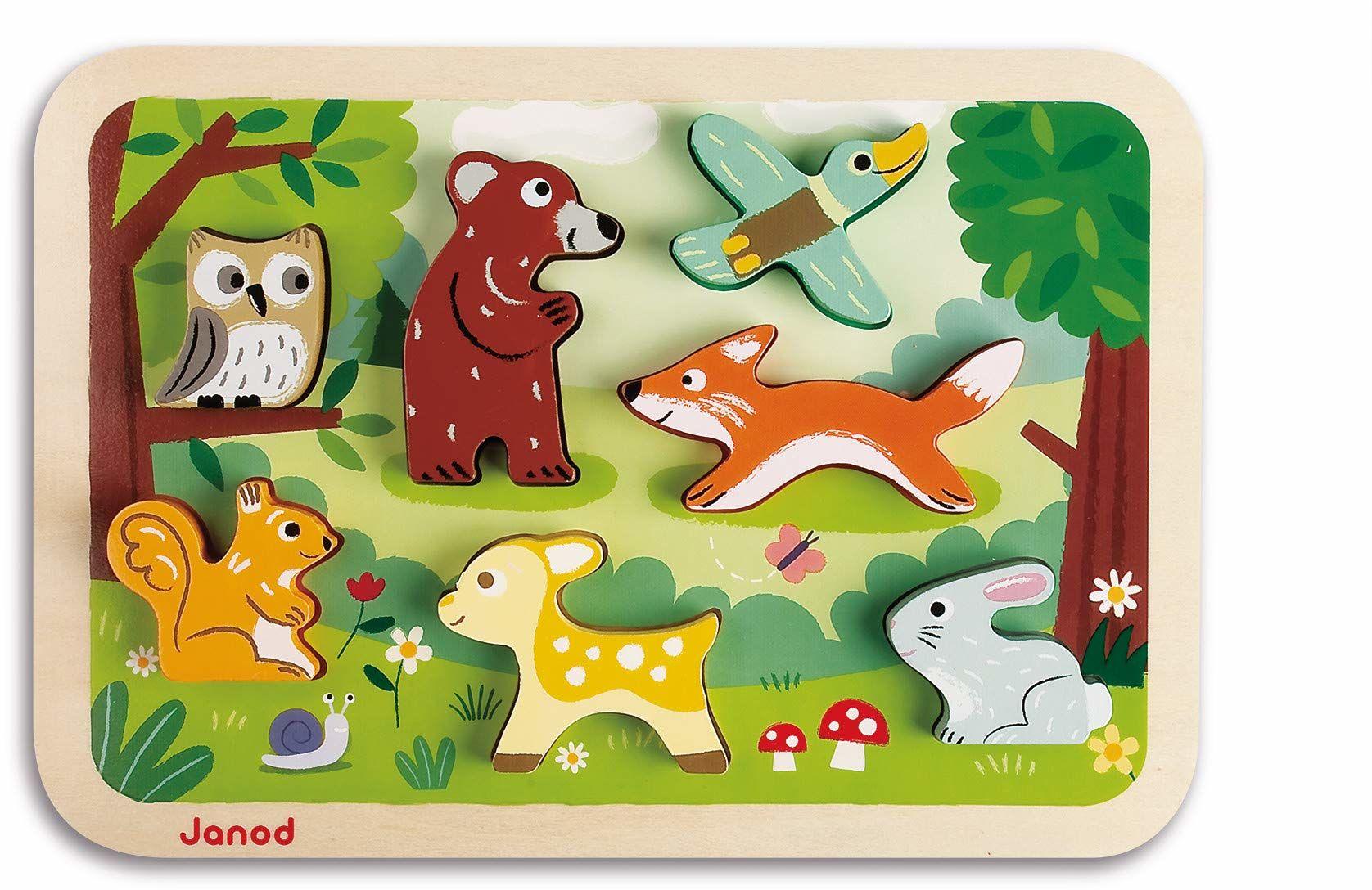 Janod Chunky drewniane puzzle 7 części