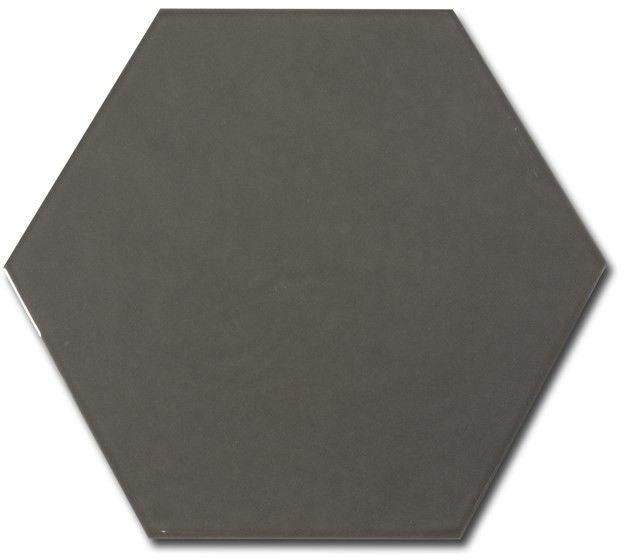 Hexatile Gris Oscuro Brillo 17,5x20