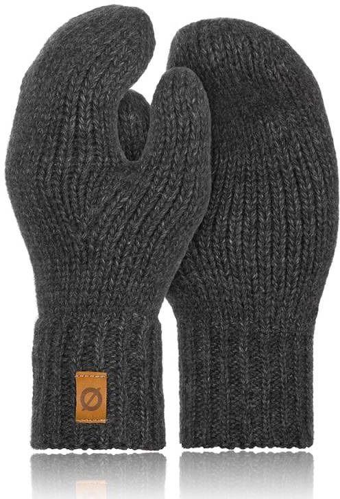 Brodrene rękawiczki damskie zimowe jednopalczaste r02 ciemnoszare