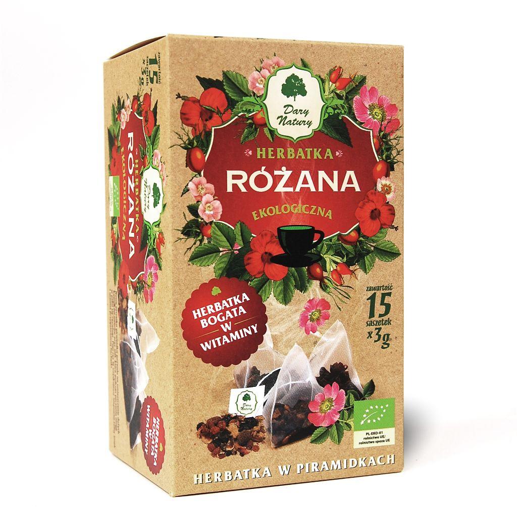 Herbatka różana piramidki bio 15 x 3 g - dary natury