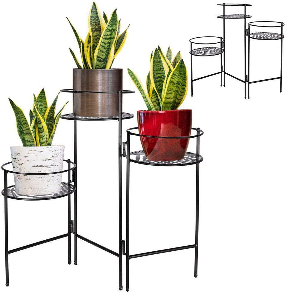 Kwietnik metalowy 3-poziomowy stojak podstawa na 3 doniczki