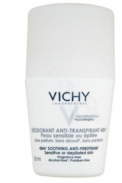Vichy Deodorant dezodorant w kulce do skóry wrażliwej i podrażnionej 50 g + do każdego zamówienia upominek.