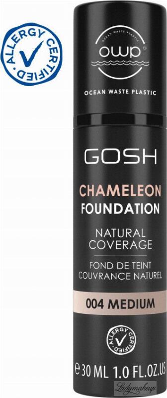 GOSH - CAMELEON FOUNDATION - Podkład adaptujący się do skóry - 30 ml - 004 MEDIUM