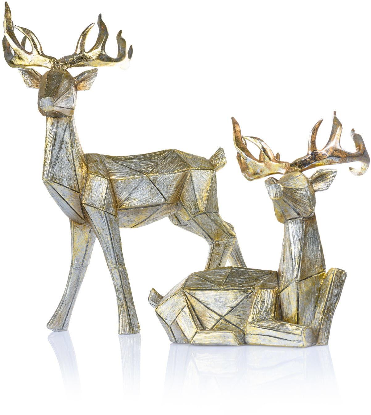 Renifery - figurki żywiczne, dekoracja świąteczna