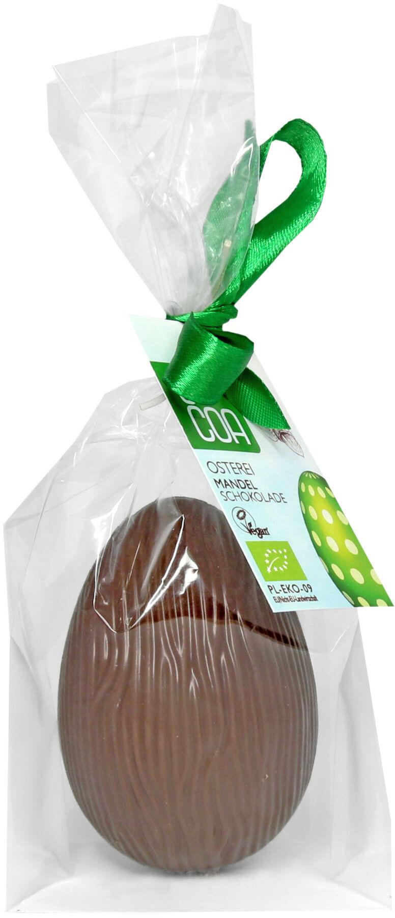 Jajko Wielkanocne z czekolady migdałowej 52% 55g - BIO