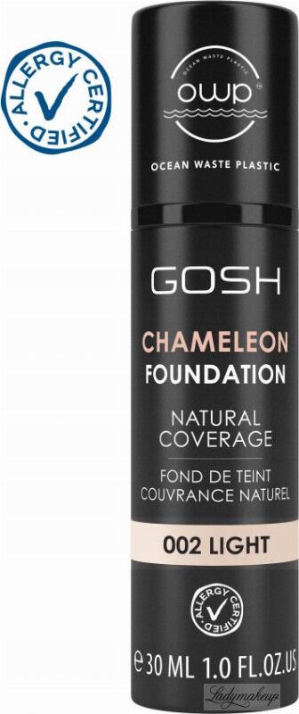 GOSH - CAMELEON FOUNDATION - Podkład adaptujący się do skóry - 30 ml - 002 LIGHT