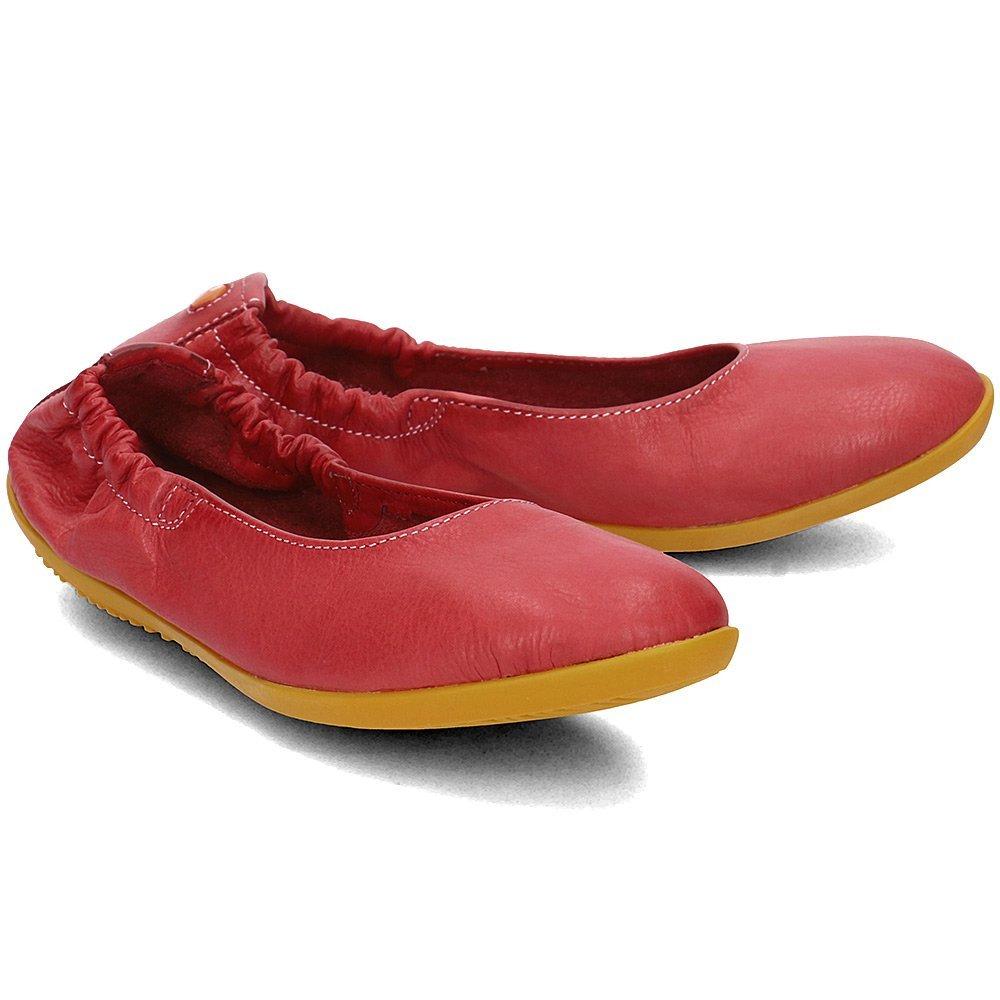 Softinos Ona - Baleriny Damskie - P900380015 - Czerwony