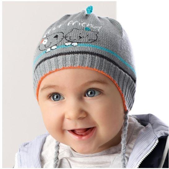 Cienka czapka dla chłopca 40-42 AJS/36-012 szara