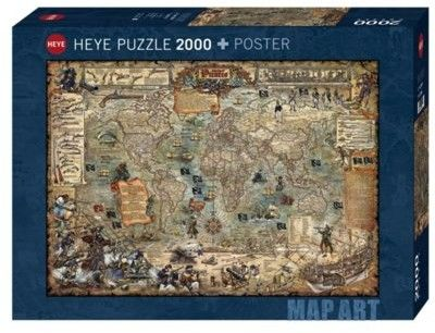 Puzzle HEYE 2000 - Świat piratów