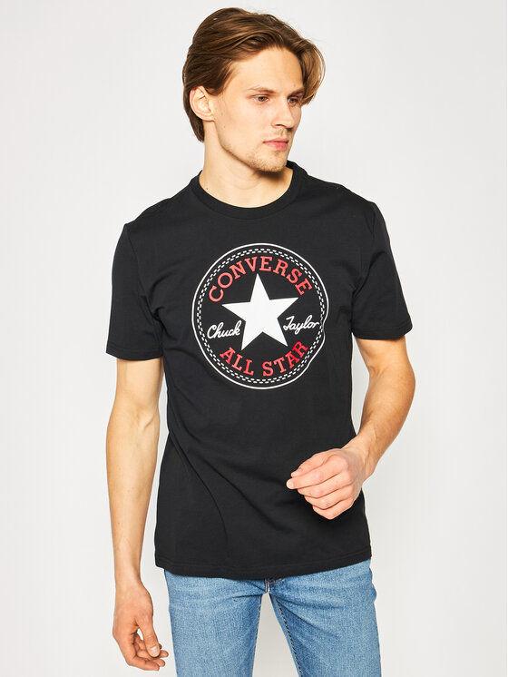 Converse T-Shirt Chuck Pack 10007887-A01 Czarny Regular Fit