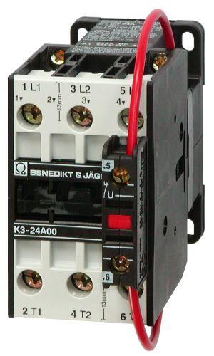 Stycznik 3-polowy 15kW 32A 24V DC K3-32A00=24