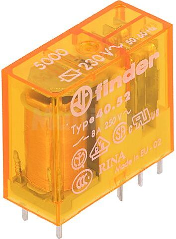 Przekaźnik elektromagnetyczny FINDER DPDT 8A/250VAC