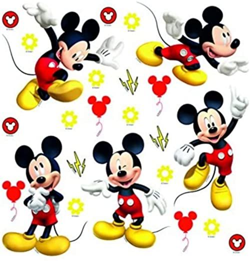 Mickey Mouse DKs 3802 naklejka ścienna, folia wielokolorowa, 30 x 30 cm / 12 x 12 cali
