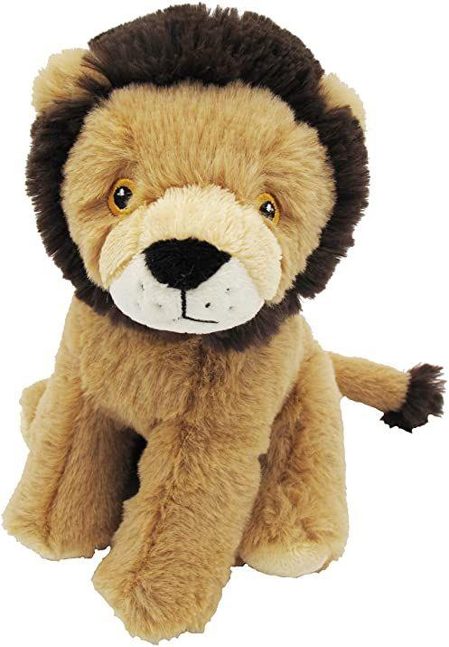 Bauer Spielwaren I Like My Planet  lew: przytulanka z miękkiego pluszu, wyprodukowana z przetworzonych butelek PET z recyklingu, w 100% z recyklingu, siedząca, 20 cm, beżowa (12922)