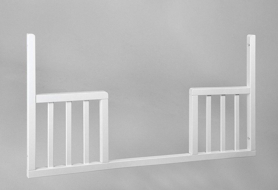 Wymienny bok do łóżeczka 120x60 uniwersalny toddler rail troll nursery (k. biały)