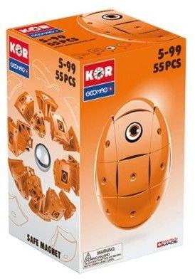 GeoMag KOR Klocki magnetyczne - Pomarańczowe jajko 55 el. 671