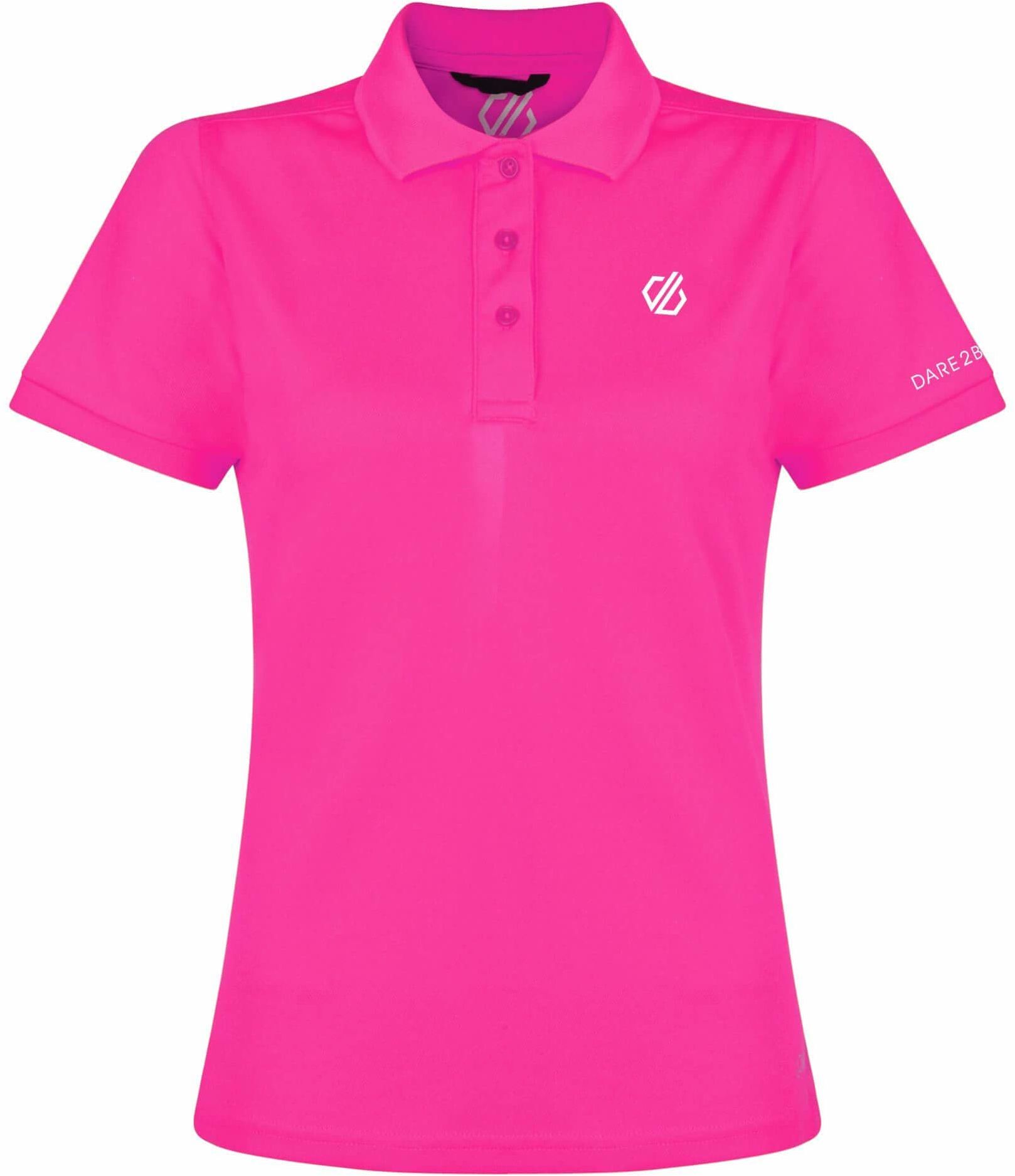 Dare 2b sportowa koszulka polo, lekka, dla kobiet, S Cyber Pink