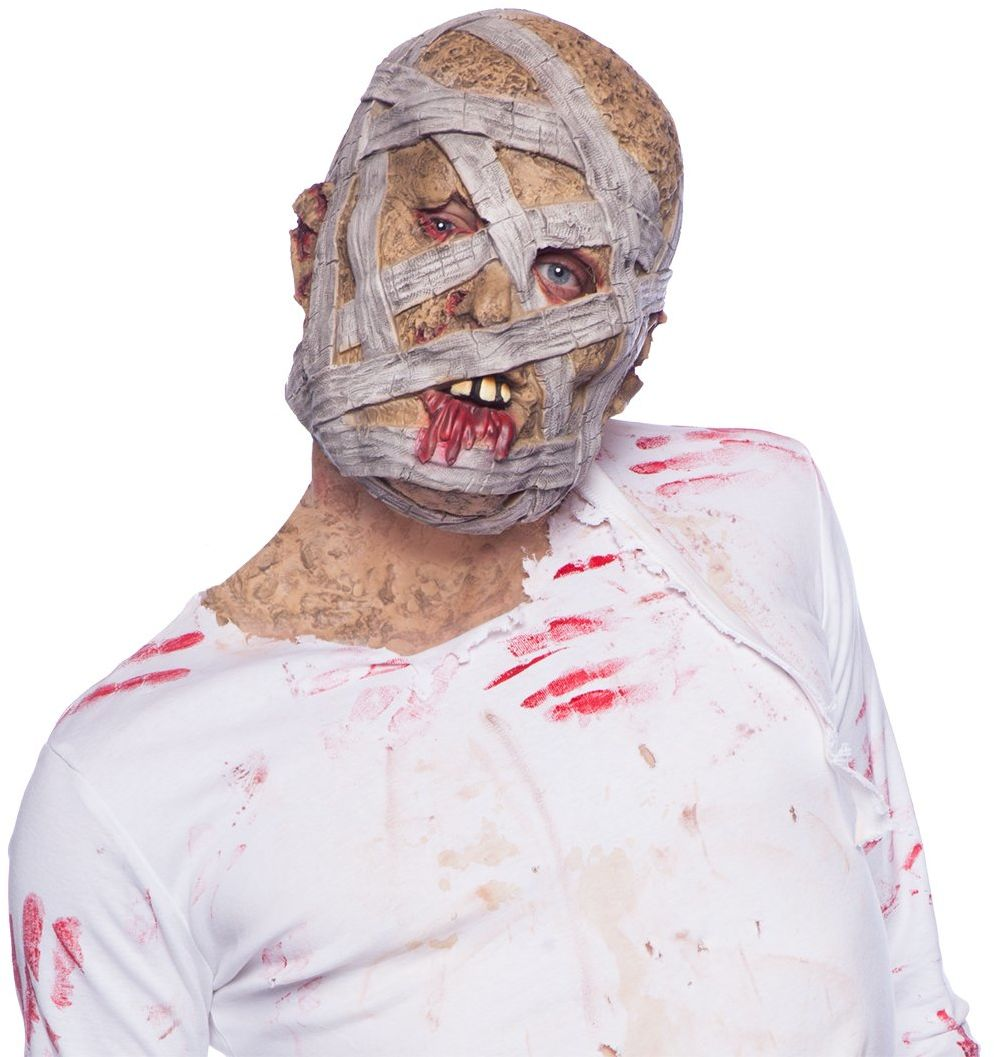 Folat 23824 Horror lateksowa maska na Halloween, wielokolorowa